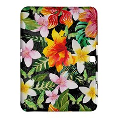 Tropical Flowers Butterflies 1 Samsung Galaxy Tab 4 (10 1 ) Hardshell Case  by EDDArt