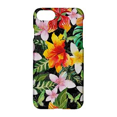 Tropical Flowers Butterflies 1 Apple Iphone 7 Hardshell Case by EDDArt