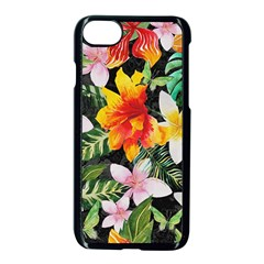 Tropical Flowers Butterflies 1 Apple Iphone 7 Seamless Case (black) by EDDArt