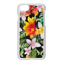 Tropical Flowers Butterflies 1 Apple Iphone 7 Seamless Case (white) by EDDArt