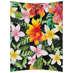 Tropical Flowers Butterflies 1 Back Support Cushion by EDDArt