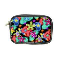 Colorful Retro Flowers Fractalius Pattern 1 Coin Purse by EDDArt