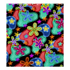 Colorful Retro Flowers Fractalius Pattern 1 Shower Curtain 66  X 72  (large)  by EDDArt