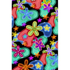 Colorful Retro Flowers Fractalius Pattern 1 5 5  X 8 5  Notebooks by EDDArt