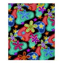 Colorful Retro Flowers Fractalius Pattern 1 Shower Curtain 60  X 72  (medium)  by EDDArt