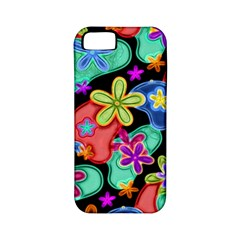 Colorful Retro Flowers Fractalius Pattern 1 Apple Iphone 5 Classic Hardshell Case (pc+silicone) by EDDArt