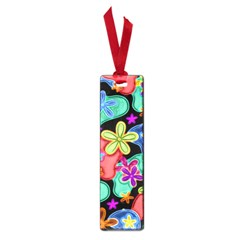 Colorful Retro Flowers Fractalius Pattern 1 Small Book Marks by EDDArt
