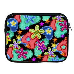 Colorful Retro Flowers Fractalius Pattern 1 Apple Ipad 2/3/4 Zipper Cases by EDDArt