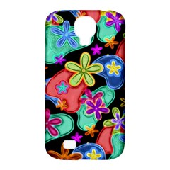 Colorful Retro Flowers Fractalius Pattern 1 Samsung Galaxy S4 Classic Hardshell Case (pc+silicone) by EDDArt