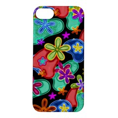Colorful Retro Flowers Fractalius Pattern 1 Apple Iphone 5s/ Se Hardshell Case by EDDArt