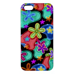 Colorful Retro Flowers Fractalius Pattern 1 Iphone 5s/ Se Premium Hardshell Case by EDDArt