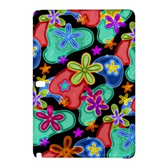 Colorful Retro Flowers Fractalius Pattern 1 Samsung Galaxy Tab Pro 10 1 Hardshell Case by EDDArt