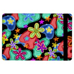 Colorful Retro Flowers Fractalius Pattern 1 Ipad Air Flip by EDDArt