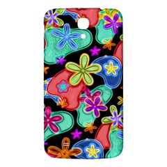 Colorful Retro Flowers Fractalius Pattern 1 Samsung Galaxy Mega I9200 Hardshell Back Case by EDDArt