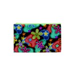 Colorful Retro Flowers Fractalius Pattern 1 Cosmetic Bag (XS) Front