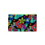 Colorful Retro Flowers Fractalius Pattern 1 Cosmetic Bag (XS) Back