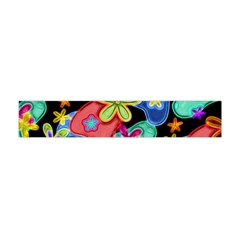 Colorful Retro Flowers Fractalius Pattern 1 Flano Scarf (mini) by EDDArt