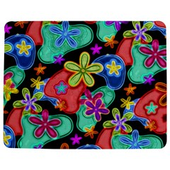 Colorful Retro Flowers Fractalius Pattern 1 Jigsaw Puzzle Photo Stand (rectangular) by EDDArt