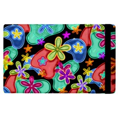 Colorful Retro Flowers Fractalius Pattern 1 Apple Ipad Pro 12 9   Flip Case by EDDArt