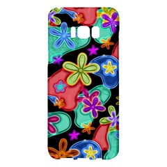 Colorful Retro Flowers Fractalius Pattern 1 Samsung Galaxy S8 Plus Hardshell Case  by EDDArt
