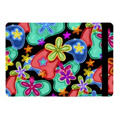 Colorful Retro Flowers Fractalius Pattern 1 Apple Ipad Pro 10 5   Flip Case by EDDArt