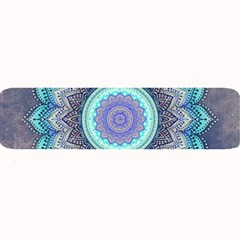 Folk Art Lotus Mandala Blue Turquoise Large Bar Mats by EDDArt