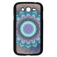 Folk Art Lotus Mandala Blue Turquoise Samsung Galaxy Grand Duos I9082 Case (black) by EDDArt