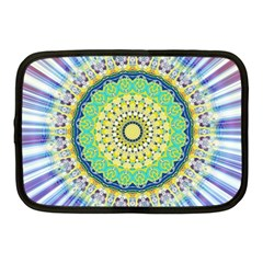 Power Mandala Sun Blue Green Yellow Lilac Netbook Case (medium)  by EDDArt