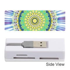Power Mandala Sun Blue Green Yellow Lilac Memory Card Reader (stick) by EDDArt