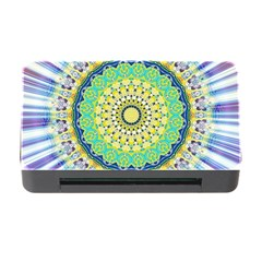 Power Mandala Sun Blue Green Yellow Lilac Memory Card Reader With Cf by EDDArt