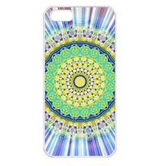 Power Mandala Sun Blue Green Yellow Lilac Apple Iphone 5 Seamless Case (white) by EDDArt