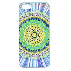 Power Mandala Sun Blue Green Yellow Lilac Apple Seamless Iphone 5 Case (color) by EDDArt