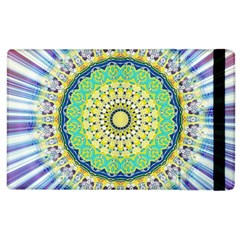 Power Mandala Sun Blue Green Yellow Lilac Apple Ipad 3/4 Flip Case by EDDArt