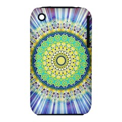 Power Mandala Sun Blue Green Yellow Lilac Iphone 3s/3gs by EDDArt
