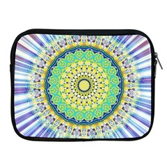 Power Mandala Sun Blue Green Yellow Lilac Apple Ipad 2/3/4 Zipper Cases by EDDArt