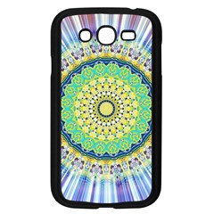 Power Mandala Sun Blue Green Yellow Lilac Samsung Galaxy Grand Duos I9082 Case (black) by EDDArt