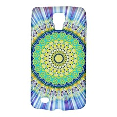 Power Mandala Sun Blue Green Yellow Lilac Samsung Galaxy S4 Active (i9295) Hardshell Case by EDDArt