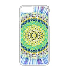 Power Mandala Sun Blue Green Yellow Lilac Apple Iphone 7 Plus Seamless Case (white) by EDDArt