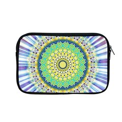 Power Mandala Sun Blue Green Yellow Lilac Apple Macbook Pro 13  Zipper Case by EDDArt