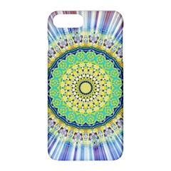 Power Mandala Sun Blue Green Yellow Lilac Apple Iphone 8 Plus Hardshell Case by EDDArt