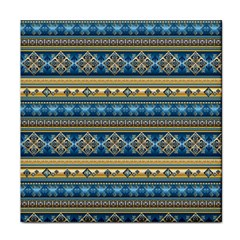 Vintage Border Wallpaper Pattern Blue Gold Tile Coasters by EDDArt