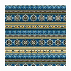Vintage Border Wallpaper Pattern Blue Gold Medium Glasses Cloth by EDDArt