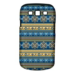 Vintage Border Wallpaper Pattern Blue Gold Samsung Galaxy S Iii Classic Hardshell Case (pc+silicone) by EDDArt