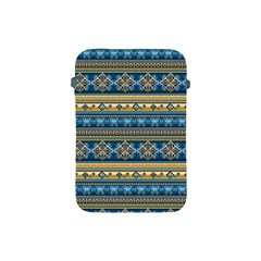 Vintage Border Wallpaper Pattern Blue Gold Apple Ipad Mini Protective Soft Cases by EDDArt