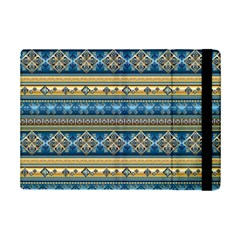 Vintage Border Wallpaper Pattern Blue Gold Ipad Mini 2 Flip Cases by EDDArt