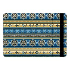 Vintage Border Wallpaper Pattern Blue Gold Apple Ipad Pro 10 5   Flip Case by EDDArt