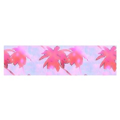 Palm Trees Paradise Pink Pastel Satin Scarf (oblong) by CrypticFragmentsColors