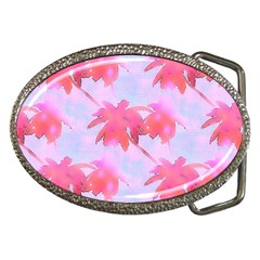 Palm Trees Paradise Pink Pastel Belt Buckles by CrypticFragmentsColors