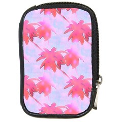 Palm Trees Paradise Pink Pastel Compact Camera Cases by CrypticFragmentsColors