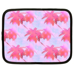 Palm Trees Paradise Pink Pastel Netbook Case (xxl)  by CrypticFragmentsColors